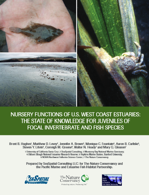 Nursery Functions of U.S. West Coast Estuaries: The State of Knowledge for Juveniles of Focal Invertebrate and Fish Species (2014)