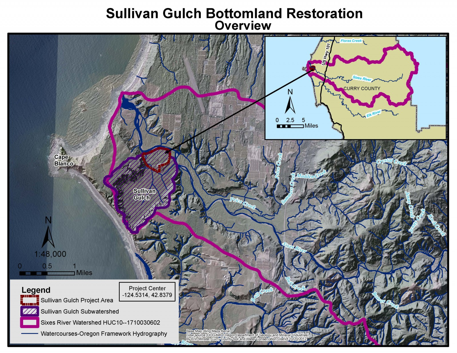 Sullivan Gulch Bottomland Restoration, Sixes River, OR (2015)