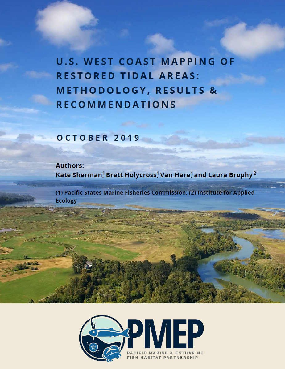 U.S. West Coast Mapping of Restored Tidal Areas: Methodology, Results & Recommendations (2019)